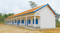 Construction of a middle school in a Cambodia